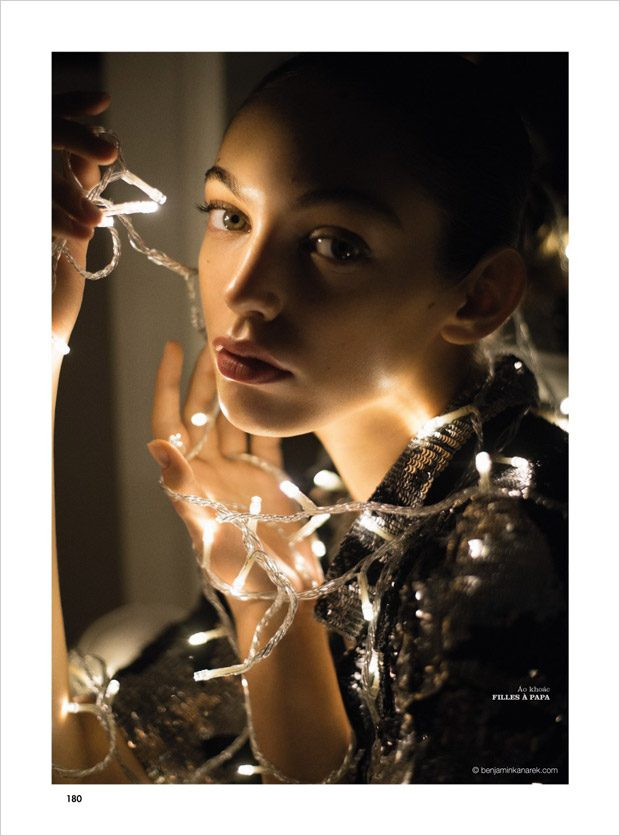Anisia Khurmatulina in Light Me Up for Elle Vietnam December 2017 Issue