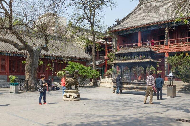Залы Сы Юй и Сань Цин, храм Белого облака, Пекин