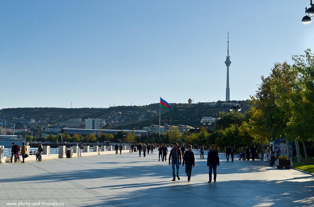 Фото 3. Набережная в столице Азербайджана городе Баку. Что можно посмотреть за 1 день.