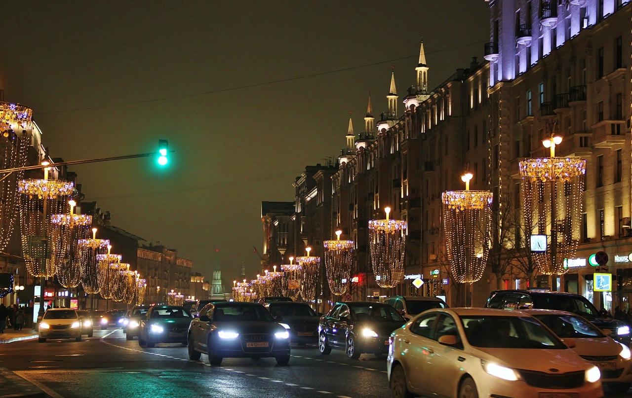 Москва новогодняя, Тверская в огнях
