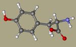 DL-Tyrosine - 556-03-6, tyrosin, H-DL-Tyr-OH, Poly-L-tyrosine, Tyrosine, DL-, L-Tryosine, CHEBI18186, 3-(4-Hydroxyphenyl)-DL-alanine, AG-F-94570-CID_1153++.png