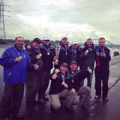 Сборная команда России стала серебрянным призером на 20-ом Чемпионате Европы по ловле рыбы поплавочной удочкой в Бельгии в 2014 году