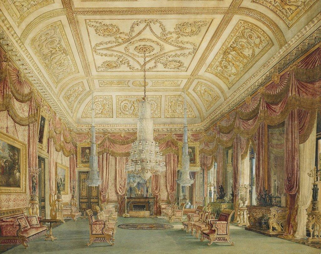 Carlton House, Малиновая гостиная.  C.1816