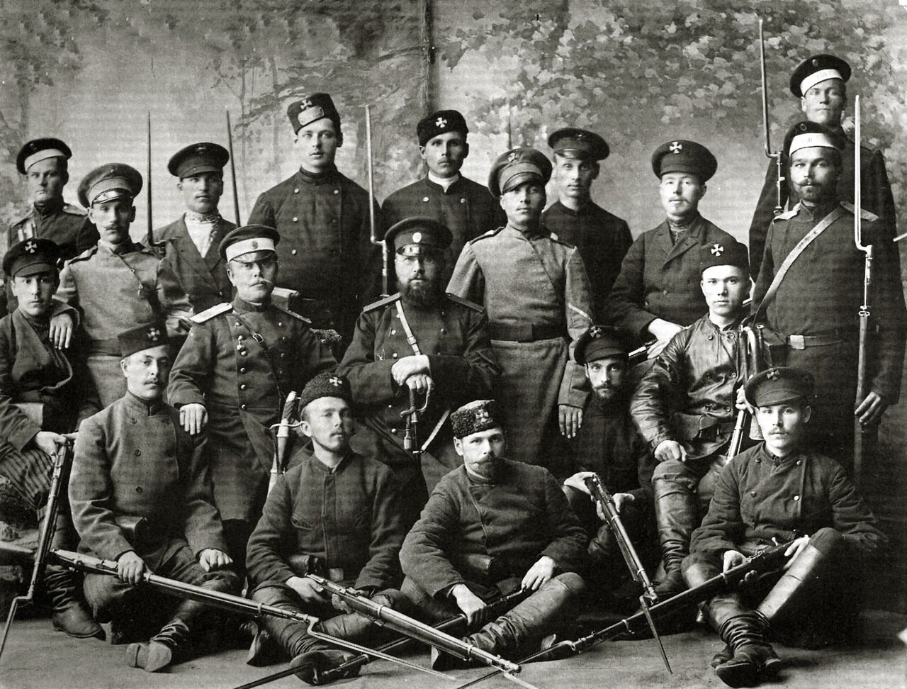 Ратники-ополченцы. 1890-е годы.