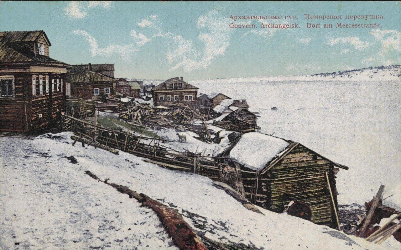 Поморская деревушка в Архангельской губернии