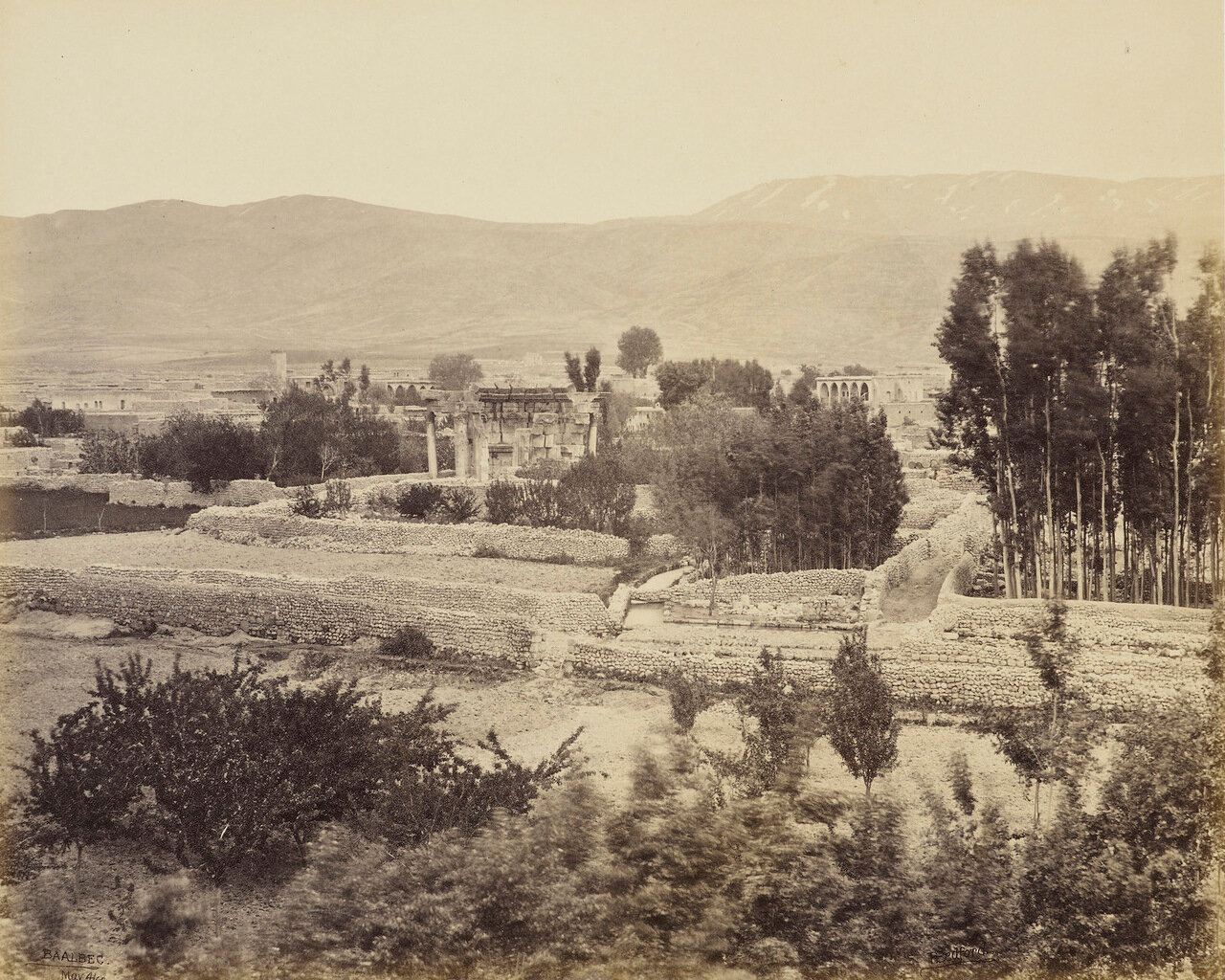 4 мая 1862. Вид долины Баальбек