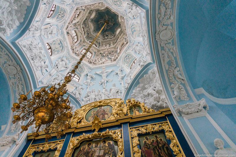 Купол Церкви Знамения Пресвятой Богородицы в усадьбе Дубровицы