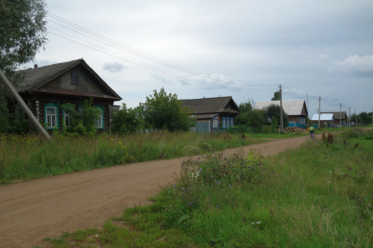 улица, деревенские дома