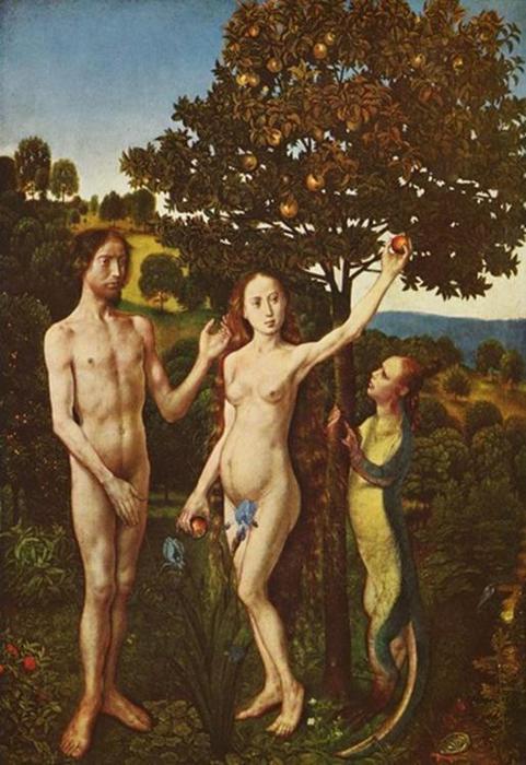 Ошибка в изображении Адама и Евы