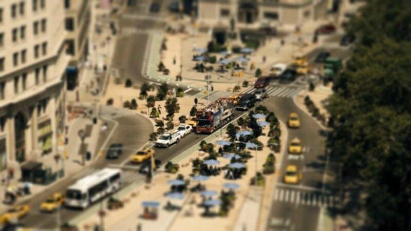 Песочница Нью Йорка. Потрясающе красивое видео с эффектом «сдвиг наклон» (tilt shift)