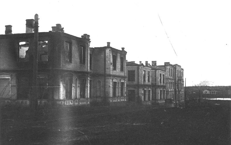 Разрушенное здание 8-й школы в Виннице (март 1944-го)