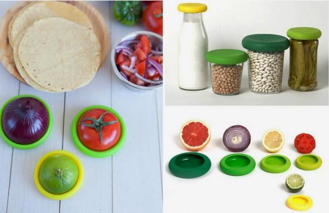 © Food Huggers  Такой набор незаменим вхозяйстве. Пять эластичных футляров разных размеров пр