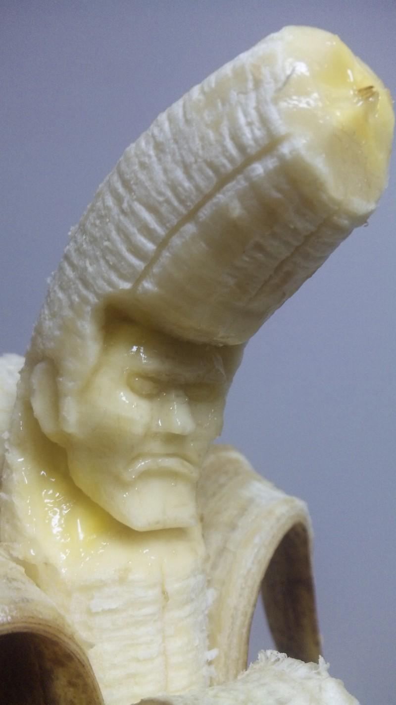 Японский мастер резьбы по бананам