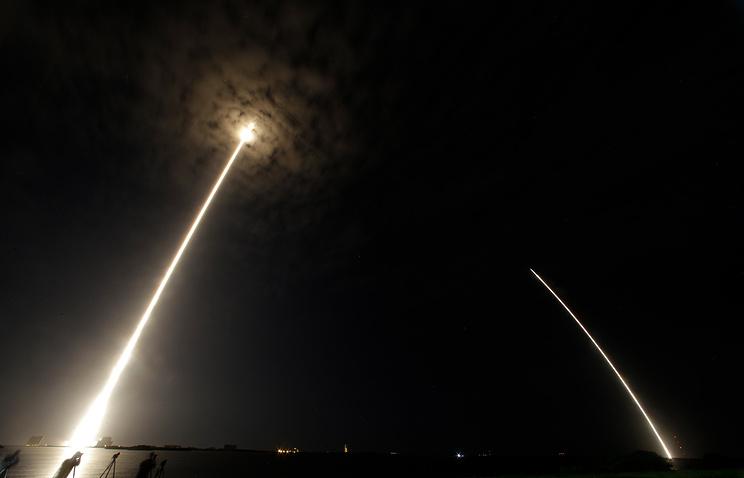 Видео взрвыва ракета Falcon 9 намысе Канаверал