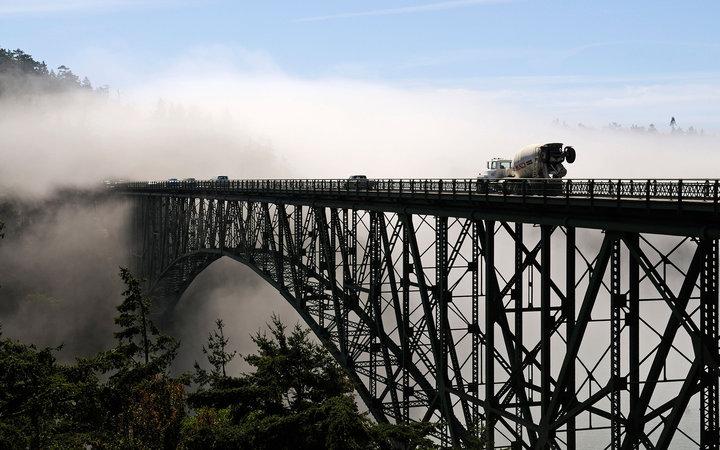 Мост Deception Pass, Вашингтон, США.