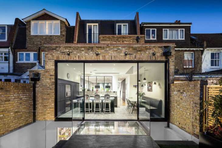 EMR Home Design designed this contemporary residential project situated in Fulham, London, United Ki