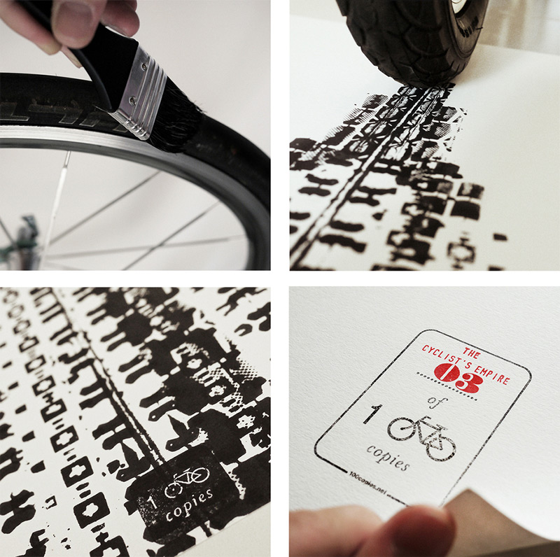 The Cyclist's Empire is the latest cycling-inspired print from the folks over at 100 Copies who prin