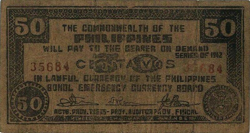 Филиппины, 50 центов, 1942