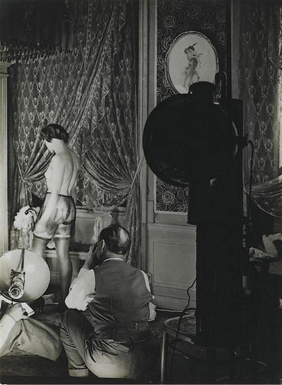 1932. Съемка рекламы нижнего белья французской фирмы «Diana Slip»