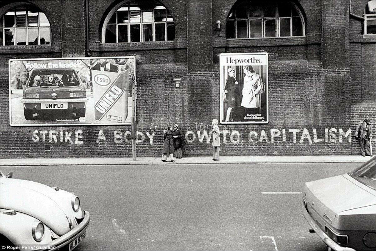 1970. Политические граффити возле станции «Кингс-Кросс»