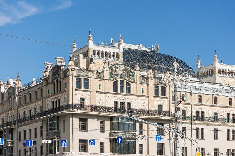 Западный фасад гостиницы Метрополь
