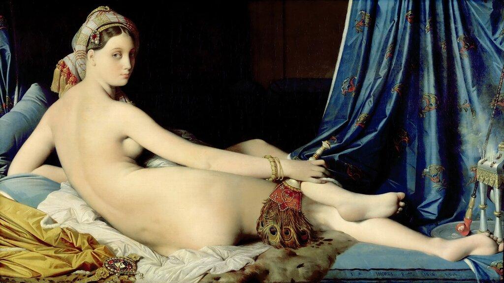 Энгр, Жан-Огюст-Доминик (1780 Монтобан - 1867 Париж) -- Большая одалиска