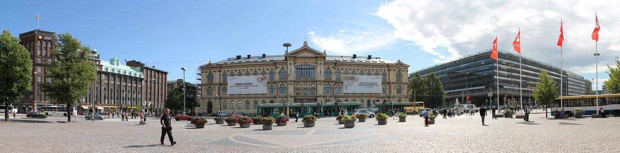 Helsinki, Ateneum Museum, Rautatientori,Railway Square,Järnvägstorget. Хельсинки, привокзальная площадь, музей Атенеум.panorama