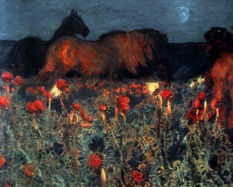 В 1889 году врубель уезжает в москву, начинается новый и самый плодотворный период его творчества