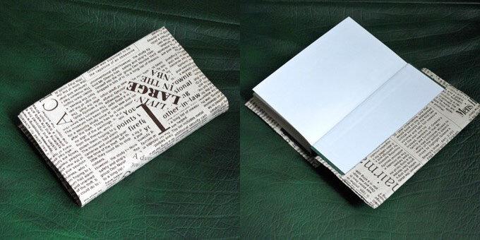 Как сделать обложку из газеты для книги