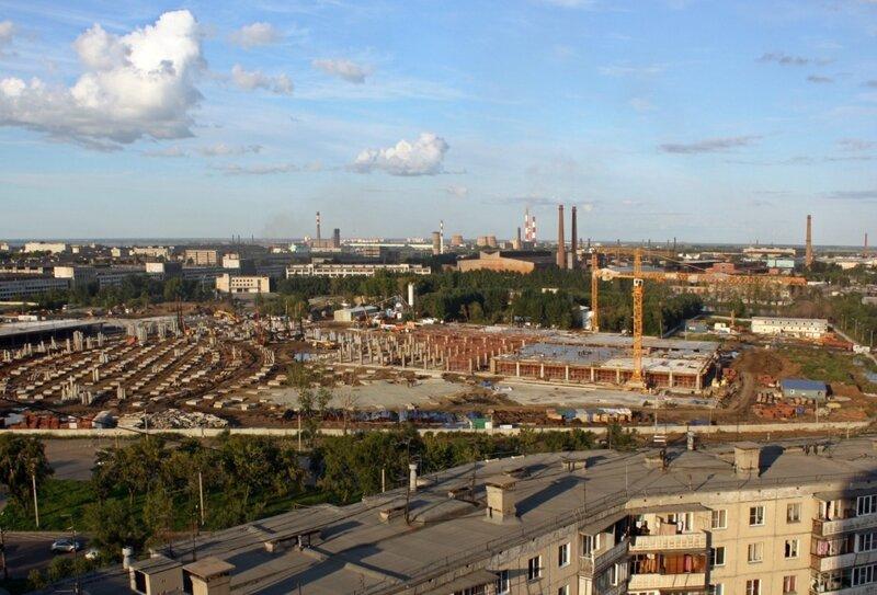 Строительство ТРК, август 2013