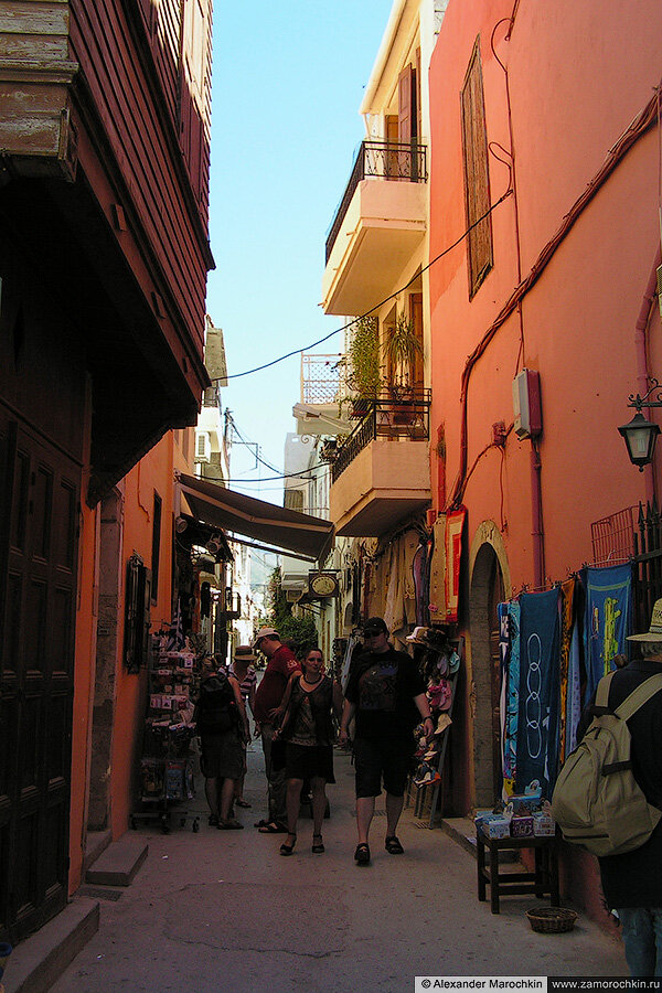 Тенистая улочка Ретимно, Крит