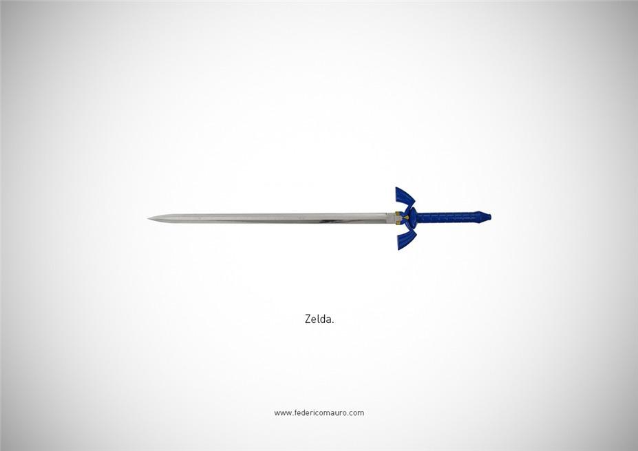 Знаменитые клинки, ножи и тесаки культовых персонажей / Famous Blades by Federico Mauro - The Legend of Zelda