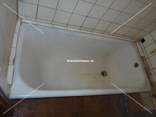 Эмалировка ванны жидким акрилом. до