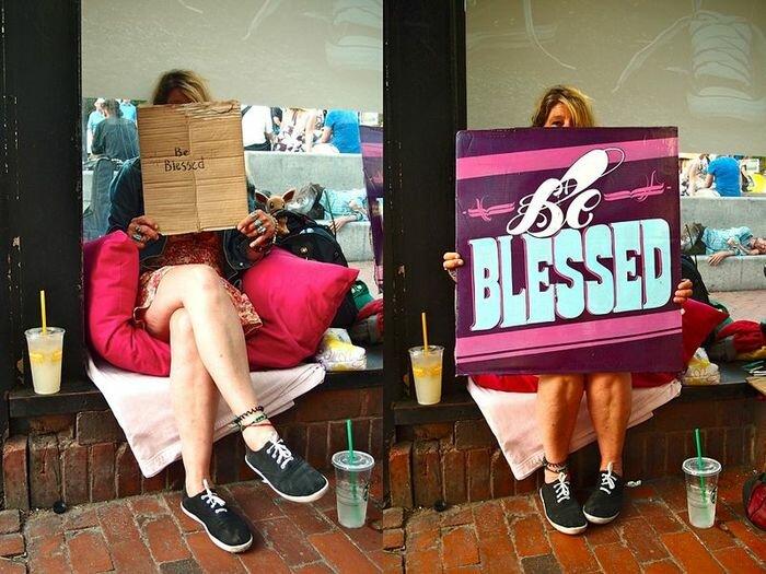 Красивые таблички для бездомных