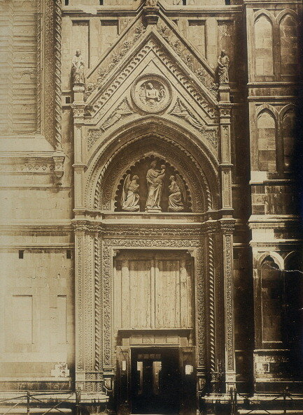 South door (Door of the Canons) of the Cathedral of Santa Maria del Fiore in Florence