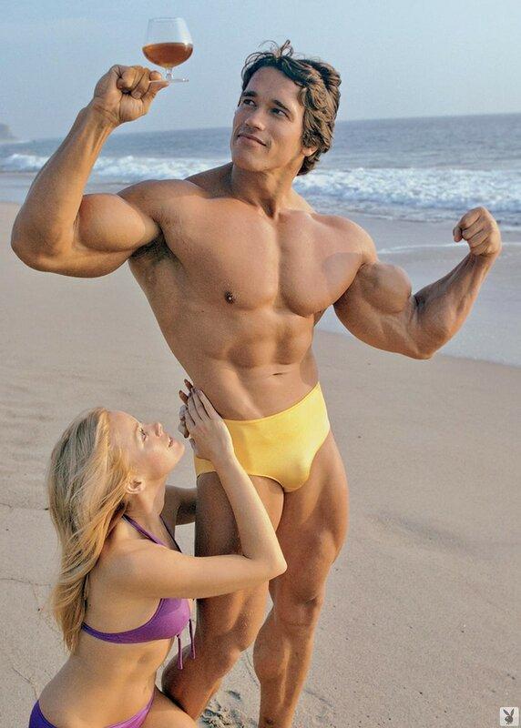 1975 Dian Parkinson and Arnold Schwarzenegger.jpg