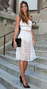 Перо ангела. Платье крючком по мотивам D&G