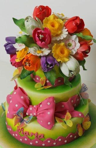 Фото цветов из мастики для торта
