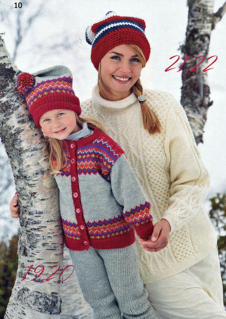 Норвежские узоры спицами для детей фото