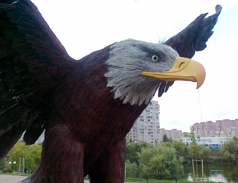 Орел из соломы