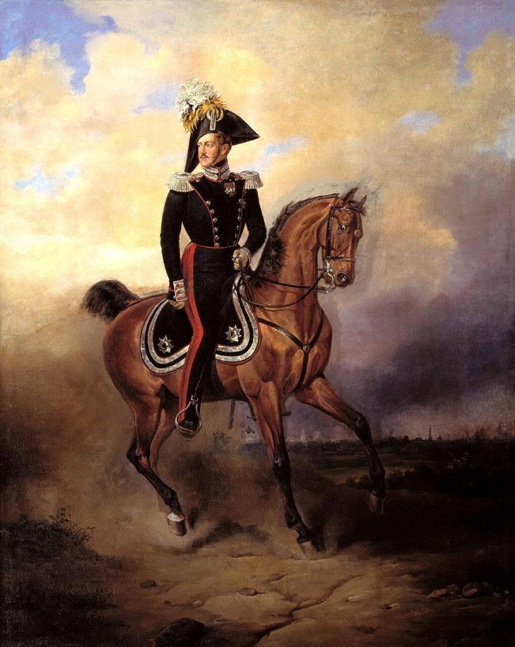 Василий Федорович Тимм (1820–1895). Портрет императора Николая I верхом, 1840