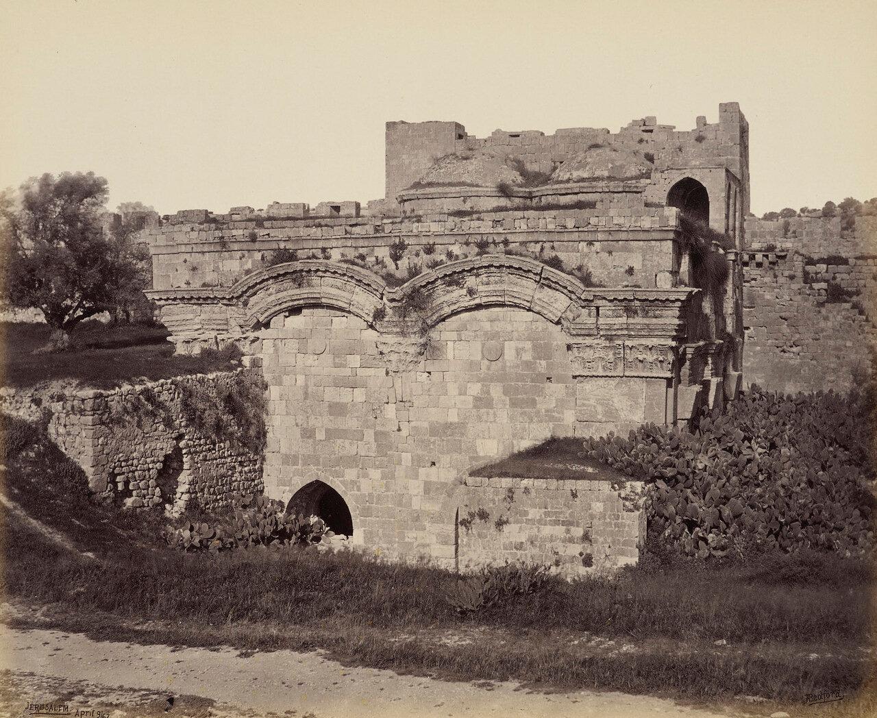 9 апреля 1862. Золотые ворота, Иерусалим.