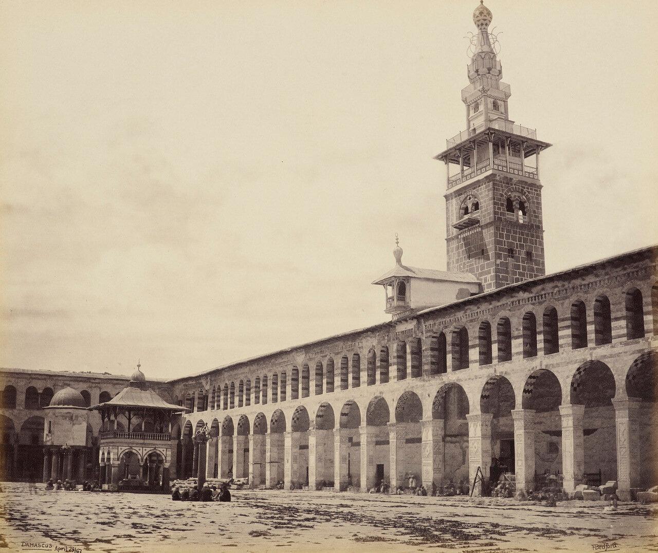 29 апреля 1862. Вид площади перед Великой мечетью. Дамаск
