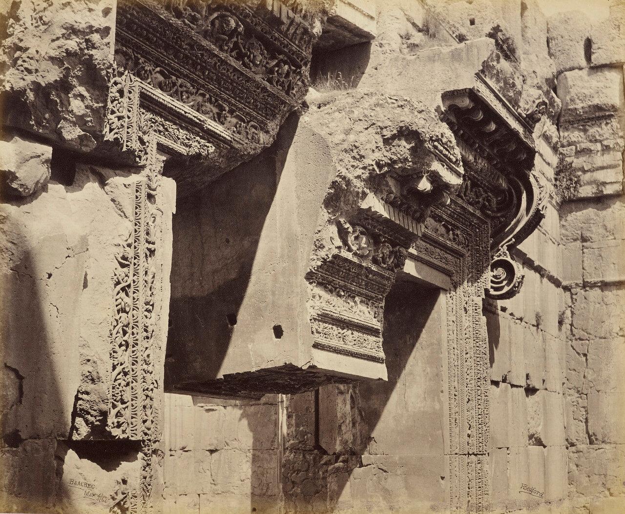 4 мая 1862. Верхняя часть дверного проема храма Бахуса, Баальбек