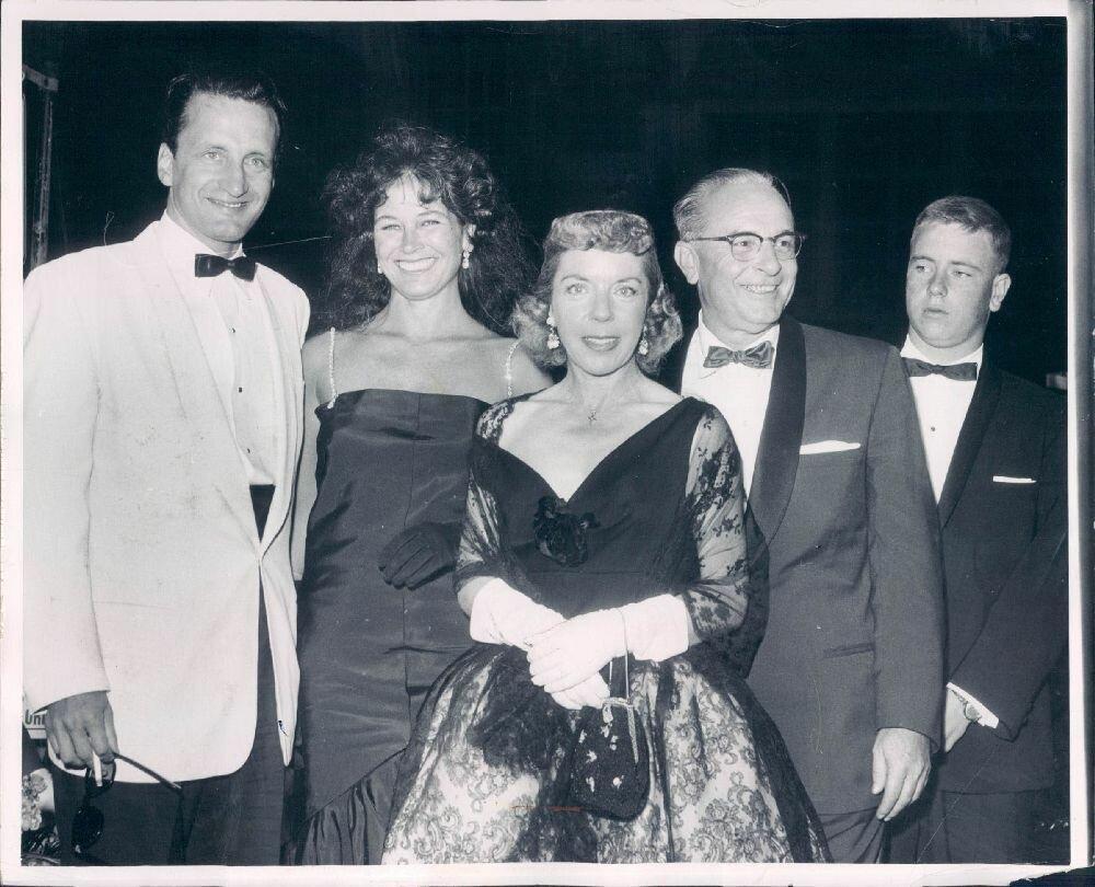 1959. Джордж С.Скотт с супругой Коллин Дьюхерст