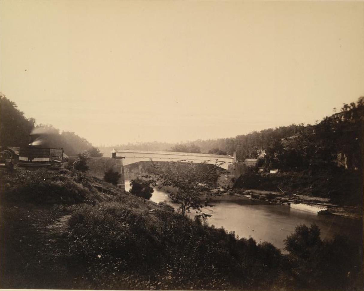 Мост Хикмана, построенный в 1838 через Кентукки