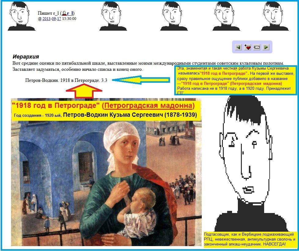 Петроградская мадонна, Лейбов, Петров-Водкин