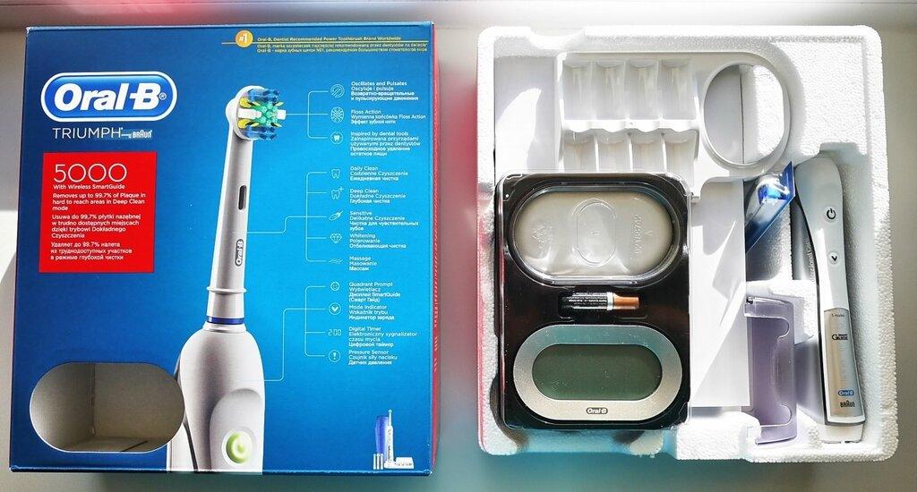 электрическая зубная щетка орал би триумф: