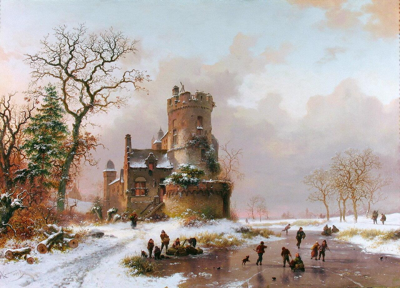 FREDERIK MARIANUS KRUSEMAN (1816-1882) - Winter Landscape