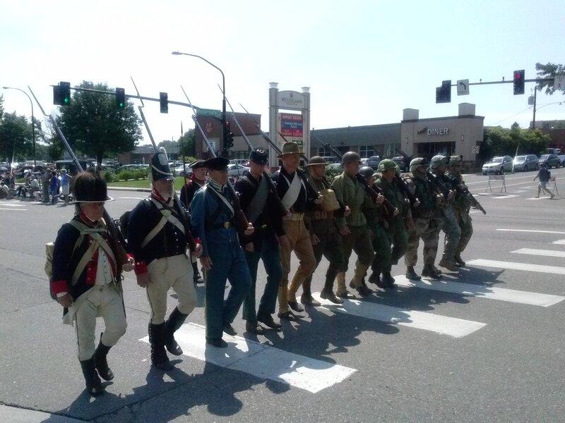 История армии США в одной шеренге